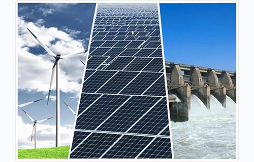 New energy and renewable energy are alternative energy sources for fossil energy