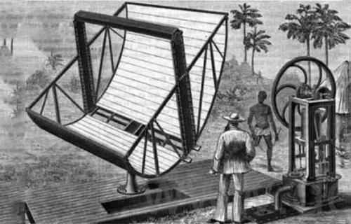 The first few stages of the brief history of solar energy utilization
