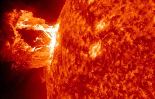 The sun is a huge fireball